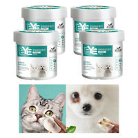 4x Presoaked Cotton Pet Eye Wipes Eye Tear Stain Remover Wipes for Cats & Dogs