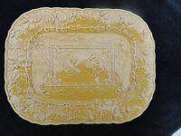 Bordallo Pinheiro Turkey Gold Large Embossed Rectangular Platter