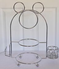 Disney Mickey Mouse Ears Silverware Caddy Plate Holder Stand