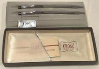 Classic CROSS 3501 Chrome Ball Pen & Mechanical Pencil Set~Vintage~New in Box
