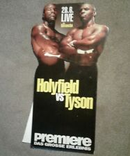 Original Germany Evander Holyfield vs Tyson Boxing Fight Store Display Stand