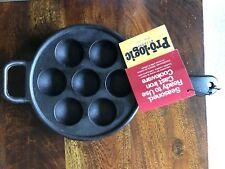 Lodge Prologic Cast Iron Aebleskiver Pan Skillet Cookware With Assist Handle