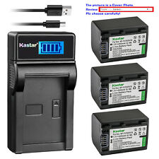 Kastar Battery LCD Charger for Sony NP-FV70 & Sony HDR-PJ10 HDR-PJ200 HDR-PJ220
