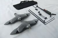 PIGEON MAGNET ROTARY + TWO FLOCKED DECOYS Remote Hunting Bag Spreaders SHOOTING