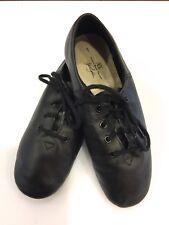 American Ballet Theatre Jazz Dance Shoes Lace up Black Leather Children's Sz 1