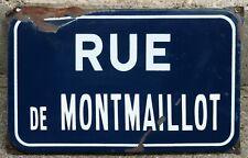 More details for old french enamel street sign plaque rue montmaillot montceau les mines burgundy