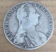 Original 1780 ST-S.F.  Austria Hungry Milan 1 Thaler Silver Coin M.Theresa D10