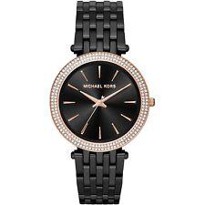Michael Kors MK3407 Darci Black and Rose Gold Glitz Womens Watch