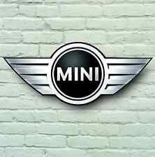 Mini Badge Logo 2Ft Large Garage Sign Wall Plaque Classic Workshop Car Cooper