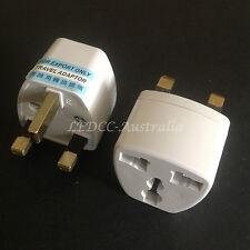 Aus NZ to UK HK Power Plug Travel Adapter Converter Universal 2pcs