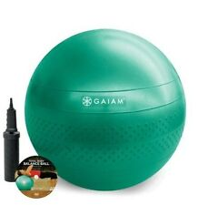 Work-Out Kit - Gaiam Total Body - Green Balance Ball (65 cm) Kit, Pump + DVD
