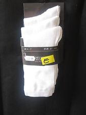 DAMES 3 Paquet de blanc chaussettes avec stretch tous les jours, uni, Polyester,
