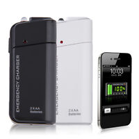 Universal USB Emergency Portable 2 AA Battery Power Charger for Mobile Phones GY