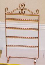 64 Holes Earrings Jewelery Copper Metal Stand Display Holder Storage Showcase UK