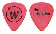 Wallflowers Michael Ward The Warden Red Guitar Pick - 1997 Tour
