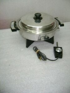 "Webalco Lifetime Stainless Steel Liquid Core 11"" Electric Skillet 17906"