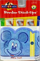 Disney Mickey Mouse Boys Denim Wallpaper Border Stick Ups 5 inch X 15 Feet New