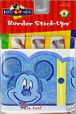 Disney Mickey Mouse Boys Denim Wallpaper Border Stick Ups 5 inch X 15 Feet New