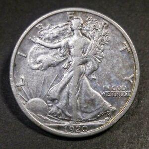 1920 D Walking Liberty Half Dollar VF