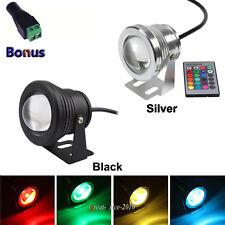 IP65 Projecteur 10W LED Etanche RGB Lumière Extérieur Lamp Jardin Spotlight 12V