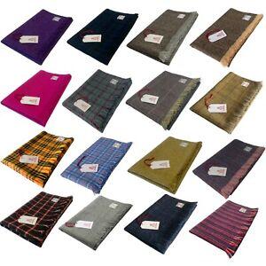 Harris Tweed Pure Wool Lap Blanket Throw Travel Rug
