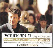 CD DIGIPACK 14T DONT 2T BONUS PATRICK BRUEL LEQUEL DE NOUS EDIT. LIMITÉE NEUF