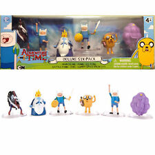 "ADVENTURE TIME ""DELUXE SIX PACK"" FIGURES. CARTOON NETWORK (JAZWARES) NEW"
