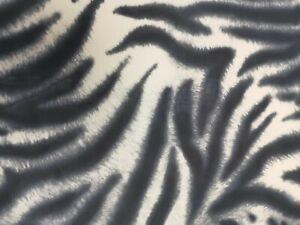 Black grey and white tiger print Lycra 4 way stretch