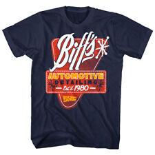 Back to The Future Biff's Automotive Detailing 1980 Men's T-shirt S 5xl L Navy