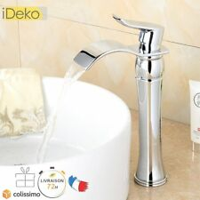 Robinet Lavabo Mitigeur Salle de Bain Cascade Chrome Haut   Flexibles 95926ef51683