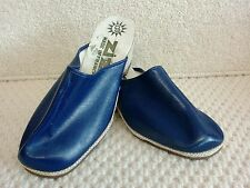 1970s vintage shoes - ladies blue mules by zizi made in france size 4