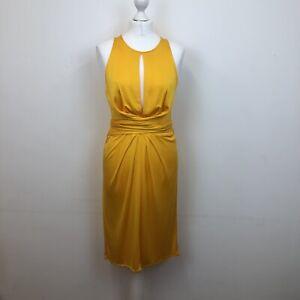 Issa London 100% Silk Keyhole Wrap Tie Waist Jersey Dress Sz 12