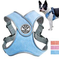 Dog Harness Collar Soft Adjustable Step-in Nylon Vest Safety Dog Chest Strap
