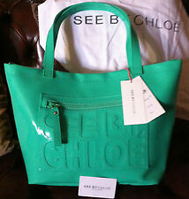 KDO de noel sasc see by chloé vert bleu eau carte authenticité +sac de rangement