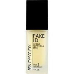 Beauty Society Fake ID GLYCOLIC Rejuvenating Serum 1.0 ounce Jar