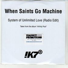 (EN658) When Saints Go Machine, System Of Unlimited Love - 2013 DJ CD