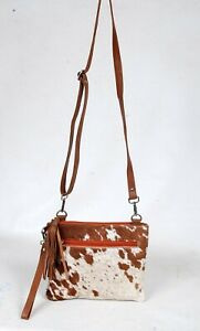 Real Cowhide Cross body Purse Handbag & Shoulder Bag Clutch Cow Leather SB-6961