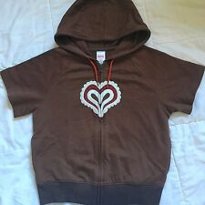 NWOT Gymboree Alpine Sweetie brown hoodie top zip jacket EUC 4 short sleeve