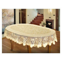 Lace Tablecloth White Gold Beige Dining  NEW Gift Rectangular Table Cloths