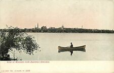 1907-1915 Postcard; View of Madison WI from Assembly Grounds, Guy in Canoe
