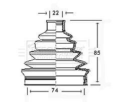Borg & Beck Driveshaft Bellow CV Joint Boot Kit BCB2326 - 5 YEAR WARRANTY