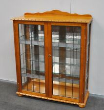 Lovely Reproduction Hardwood Leadlight Display Cabinet / China Cabinet
