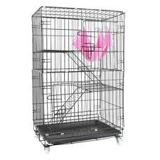 "360° Rotation 3 Levels Ferret Cage Rabbit Chinchilla Rat 30"" Small Animal House"