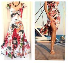 Stunning Joseph Ribkoff Sleeveless Multicolour Stretchy Floaty Dress Size 14