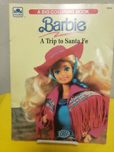 Vintage Barbie Coloring Book  A TRIP TO SANTA FE  Golden book