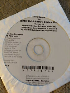 IBM ThinkPad i Series 1200 recovery CD Windows ME Millenium Edition