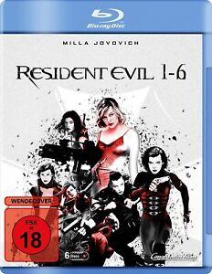 Resident Evil 1 2 3 4 5 6 Milla Jovovich Michelle Rodriguez 3D +2D Blu-Ray New