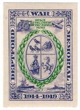 (I.B) Cinderella Collection : Deptford War Memorial Fund (1919)