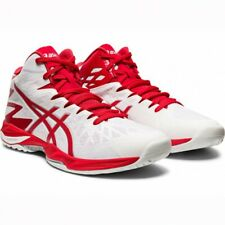 ASICS Volleyball Men's Shoes V-SWIFT FF MT 2 White Red 1053A018 With Tracking