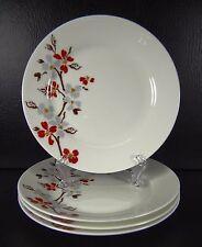 Gracie Bone China Set of 4 Salad Dessert Plates Flowing Dogwood Cornus Florida